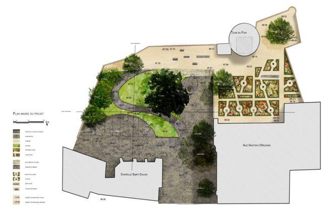 revisiter les terrasses du château de Blois paysagiste Clermont-Ferrand 2
