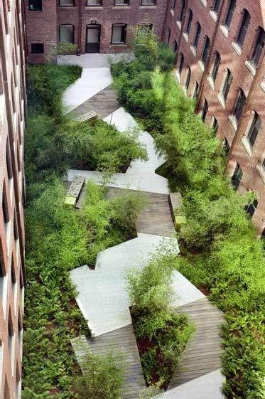 cheminement aménagement paysager