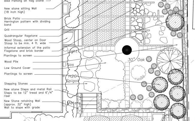 étapes de projet Créer un patio autour d'un chêne paysagiste Clermont-Ferrand