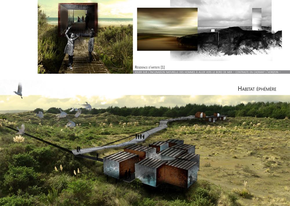 Habitat éphémère en Nouvelle Zélande LMP paysagiste Clermont-Ferrand 3