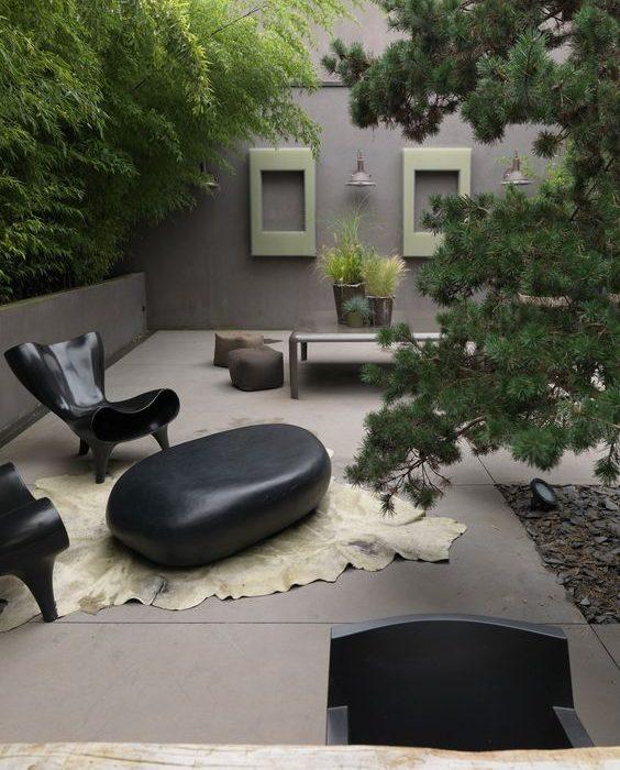 intérieur extérieur patio paysagiste Clermont-Ferrand
