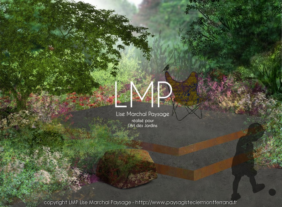 jardin concept intégration paysage paysagiste Clermont-Ferrand