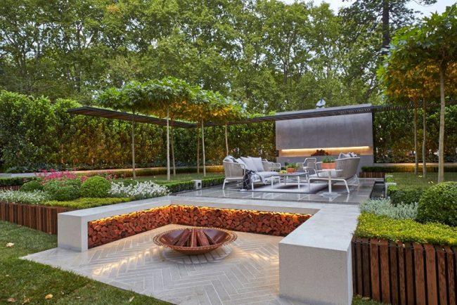 jardin moderne paysagiste Clermont-Ferrand