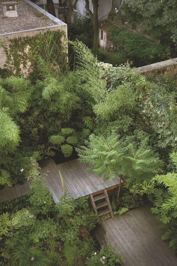 jardin urbain luxuriant paysagiste Clermont-Ferrand
