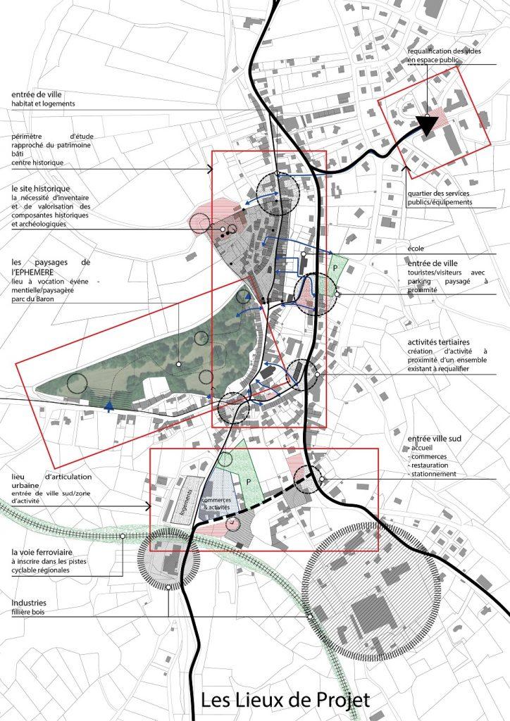 projet revitalisation centre bourg Allègre paysagiste Clermont-Ferrand 2
