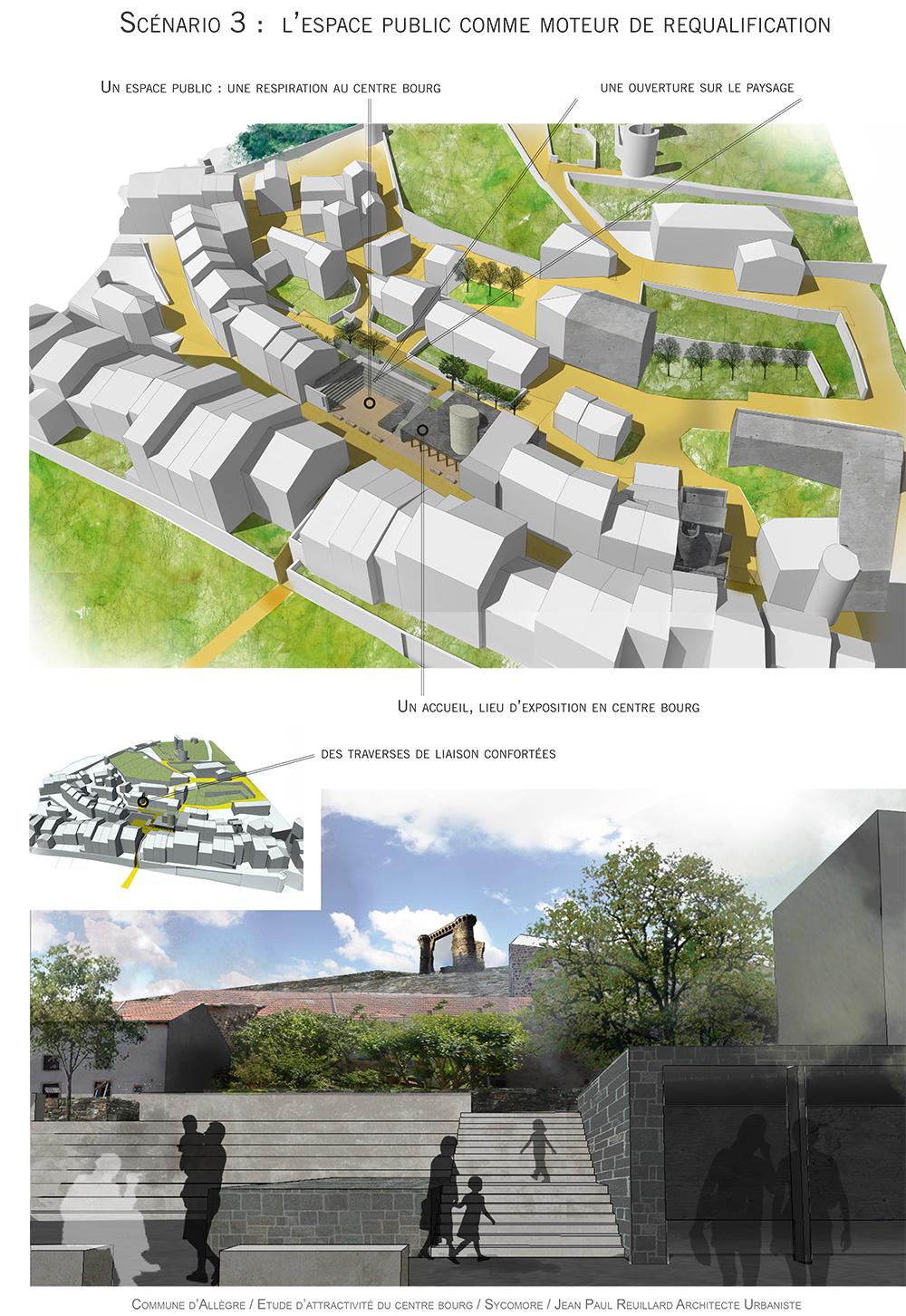 projet revitalisation centre bourg Allègre paysagiste Clermont-Ferrand 3