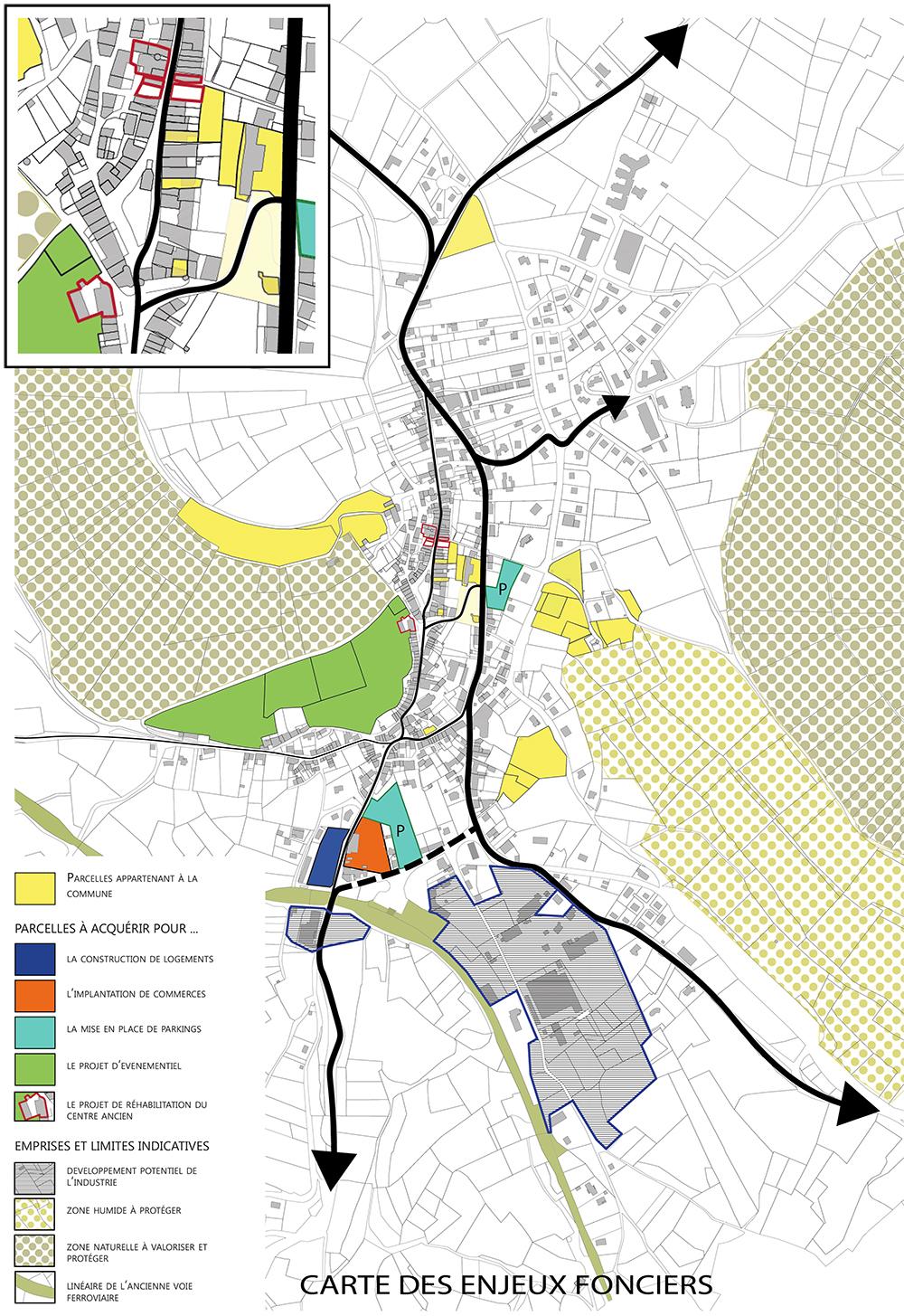 projet revitalisation centre bourg Allègre paysagiste Clermont-Ferrand 4
