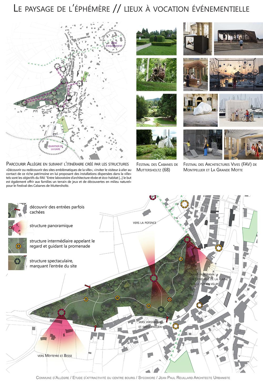 projet revitalisation centre bourg Allègre paysagiste Clermont-Ferrand 6