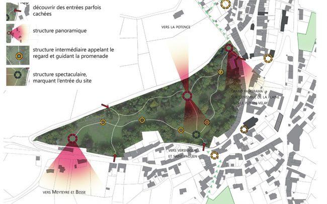 projet revitalisation centre bourg Allègre paysagiste Clermont-Ferrand