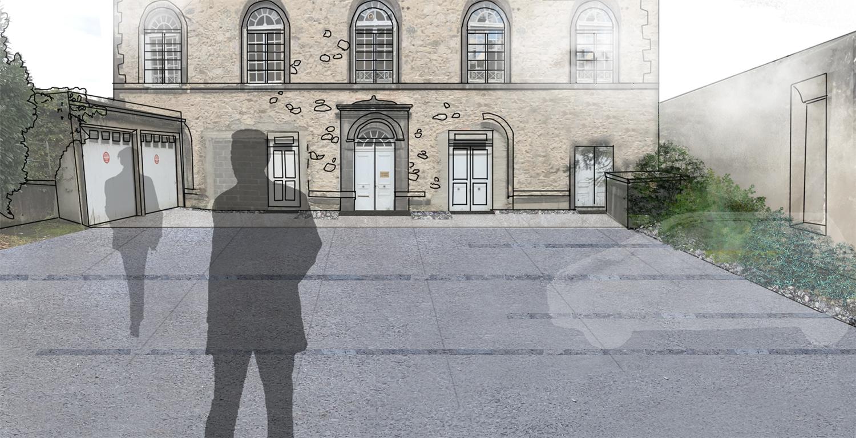 réaménagement abord ancien hôpital de thiers