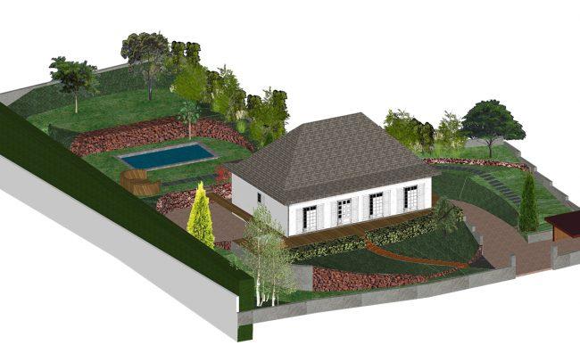jardin en pente à Dallet paysagiste Clermont-Ferrand