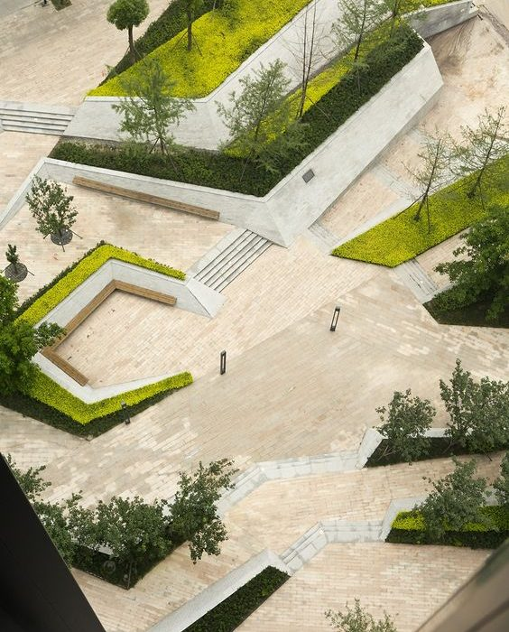 Located in Chengdu, a central city of Midwest China, Fantasia Mixed-Use Landscape project amenagement paysager
